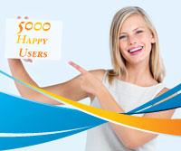 5000 Happy Users